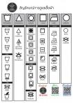 สัญลักษณ์การดูแลเสื้อผ้า - ร้านสะดวกซัก 24 ชม. ประเวศ - Panda wash & dry