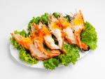 กุ้งเผา - ร้านอาหาร แม่ลาปลาเผา สิงห์บุรี
