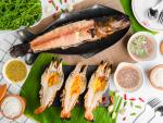 กุ้งแม่น้ำเผา ปลาเผา - ร้านอาหาร แม่ลาปลาเผา สิงห์บุรี