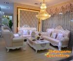 ชุดโซฟาหลุยส์ เบาะหนัง สไตล์วินเทจ โครงไม้แกะสลักดอกกุหลาบ - Siripaisalrungrueng Furniture