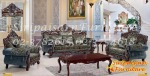 ชุดโซฟาหลุยส์ สีไม้โอ๊ค บุผ้าหลุยส์สีคราม - Siripaisalrungrueng Furniture
