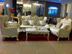 ชุดโซฟาหลุยส์ ไวท์ไดมอนด์ สีขาวตัดทองเล็กน้อย - Siripaisalrungrueng Furniture