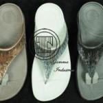 งานปักบนรองเท้า