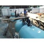 งานออกแบบและติดตั้งถังบำบัดในระบบบำบัดน้ำเสีย