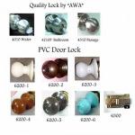 กุญแจลูกบิด PVC - Plastic Lock (AWA)