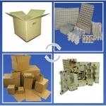 กล่องกระดาษลูกฟูก และผลิตภัณฑ์จากเยื่อกระดาษ