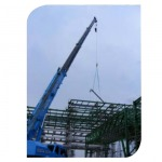 Pipe line and scaffolding work