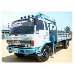 รถบรรทุกติดเครน ( Truck Loader)  - รถเครนให้เช่า-สุขุมคอนสตรัคชั่น