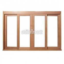 ประตูเลื่อน/หน้าต่างเลื่อน กรอบกระจก - สลักไทย 2