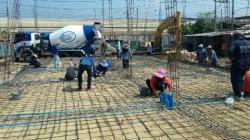 งานเทพื้นคอนกรีต - ห้างหุ้นส่วนจำกัด ทีแอนด์บี รับสร้างบ้าน