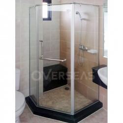 ฉากกั้นห้องอาบน้ำ AMETIS 135   - บริษัท โอเวอร์ซี อลูมินั่ม จำกัด