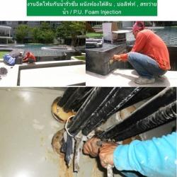 งานฉีดโฟมกันน้ำรั่วซึม ผนังห้องใต้ดิน , บ่อลิฟท์ , สระว่ายน้ำ / P.U. Foam Injection - S K Seal (Thailand) Co Ltd