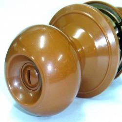 กุญแจลูกบิด PVC - Plastic Lock (AWA-6200-Brown)