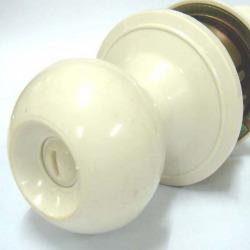 กุญแจลูกบิด PVC - Plastic Lock (AWA-6200-Cream)
