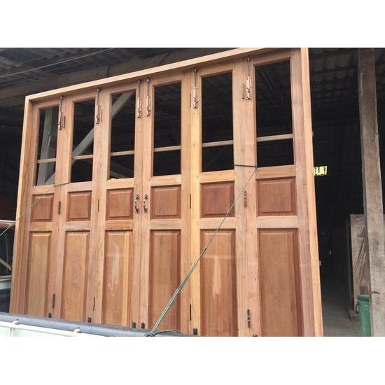 ชุดประตูบานเฟี้ยมไม้ - บริษัท ซิ้มย่งหลี ทิมเบอร์ กรุ๊ป จำกัด - ประตูบานเฟี้ยมไม้