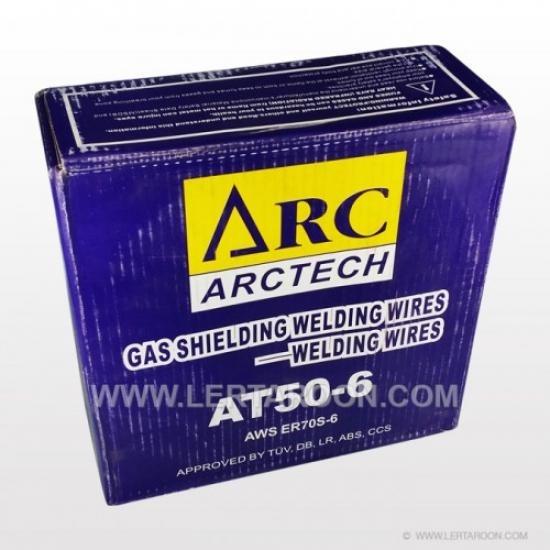 ลวดเชื่อม MIG CO2 ARCTECH 0.8 MM (สีน้ำเงิน 15 KG) - บริษัท เลิศอรุณเทรดดิ้ง จำกัด - ลวดเชื่อม