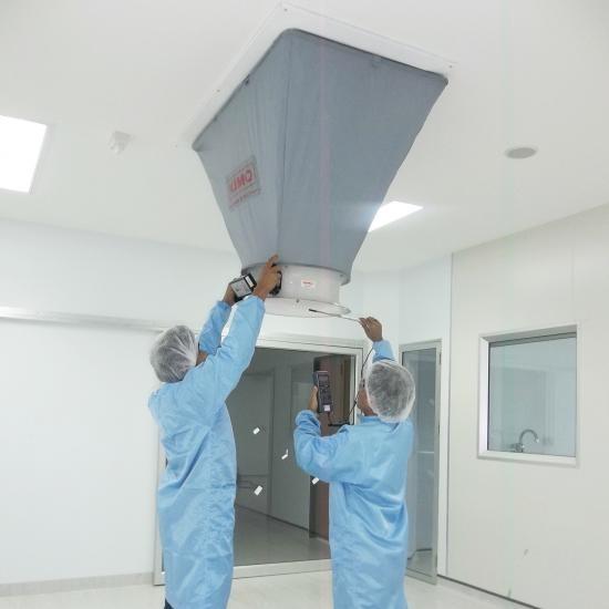 ทดสอบระบบการทำงาน  ( Test run system ) ทดสอบระบบการทำงานห้องคลีนรูม  ติดตั้งงานระบบ ห้องคลีนรูม