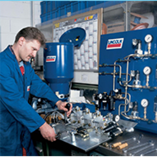 ระบบจ่ายสารหล่อลื่นแบบสเปรย์ในอุตสาหกรรมเหมืองแร่และซีเมนต์ ระบบจ่ายสารหล่อลื่น
