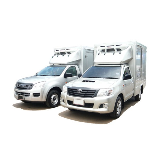 ปิคอัพ ตู้บรรทุกสินค้าชนิดเก็บความเย็น  ต่อตัวถังรถกระบะ   ต่อตัวถังรถบรรทุก