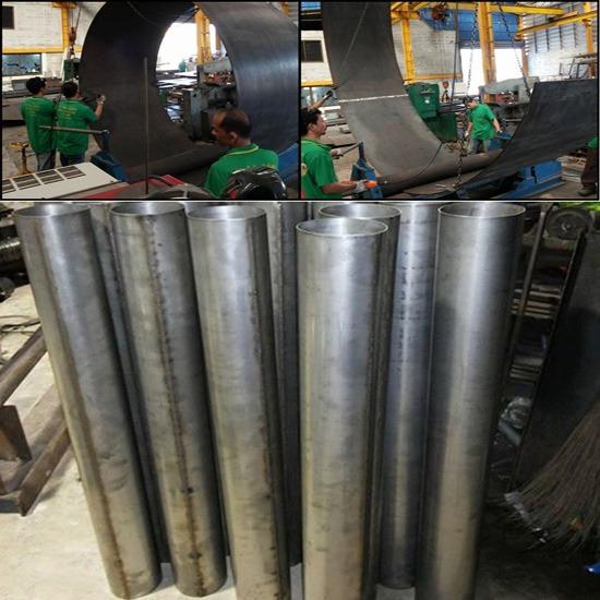 งานม้วน   Roller Bending  - บริษัท สินชัย เจริญโลหะ จำกัด