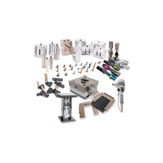 อะไหล่สำหรับเครื่องเชื่อมอัลต้าโซนิค - บริษัท ดีอาร์-โซนิค เอ็นจิเนียริ่ง จำกัด - ฮอร์น (Horn)   ฟิกเจอร์ (Fixture)  สายเคเบิ้ล (cable)   สกรู (Screw)  แคลมป์(Clamp)  แหวน(Ring)