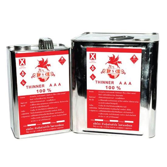 ทินเนอร์ 3A PSC (แดง) - ห้างหุ้นส่วนจำกัด ไพศาล เคมีคอล  - ทินเนอร์  เคมีภัณฑ์  น้ำมันซักแห้ง  น้ำมันก๊าด  แอลกอฮอล์  น้ำมันสน  น้ำยาล้างคราบมัน  Solvent  โซลเว้นท์  สีพ่นอุตสาหกรรม