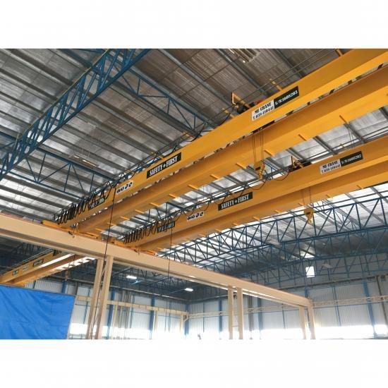 เครนคานคู่ ชลบุรี รับติดตั้งเครนรางคู่ (double girder crane)  เครน  รอก  รับติดตั้งเครนรางคู่ ชลบุรี  เครนรางคู่ ชลบุรี