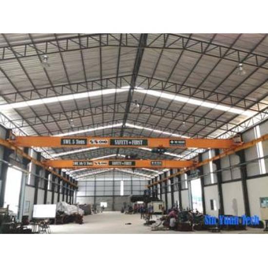 ติดตั้งเครนคานเดี่ยว ชลบุรี เครนรางเดี่ยว (single girder crane)  รับติดตั้งเครนรางเดี่ยว (single girder crane)