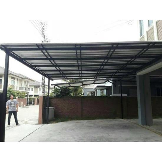 โครงหลังคา กัดสาด เมทัลชีท - ประตูรั้วสแตนเลส-ชัยเจริญสแตนเลส - โครงหลังคาเมทัลชีท