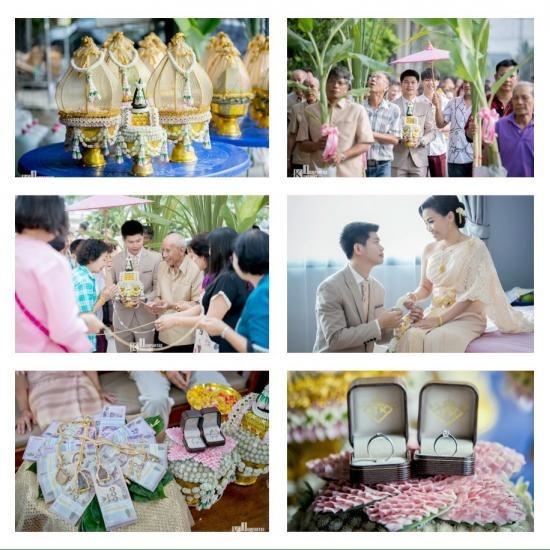 งานแต่งงาน พิธีไทย งานแต่ง  งานเช้า  พิธีไทย  พานขันหมาก  ขบวนขันหมาก  จัดดอกไม้  ดอกไม้งานแต่ง