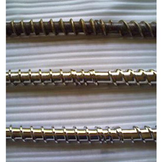พ่นพอกสันเกลียวด้วยทังสเตนคาร์ไบด์ - บริษัท บี ไบเมทัลลิค จำกัด - จำหน่ายสกรูสำหรับเครื่องฉีดพลาสติก สกรูเครื่องหลอม ชนิดพ่นพอก ทังสเตนคาร์ไบท์ bimetallic screw ไบเมทัลลิค สกรูชุบผิวแข็งอินดักชั่นฮาร์ดโครมม induction hard chrome สกรูชุบไนไตรฮาร์ดโครม nitride hard chrome ชุบไนไตรดิ้ง nitriding ขัดเงา สกรูไนไตร์ด สกรูหลอมคาร์ไบด์ หัวฉีดสกรู สกรูรีดพลาสติก สกรูฉีดพลาสติก สกรูเป่าถุงพลาสติก กระบอกฉีดพลาสติกไนไตร์ด barrel nitride