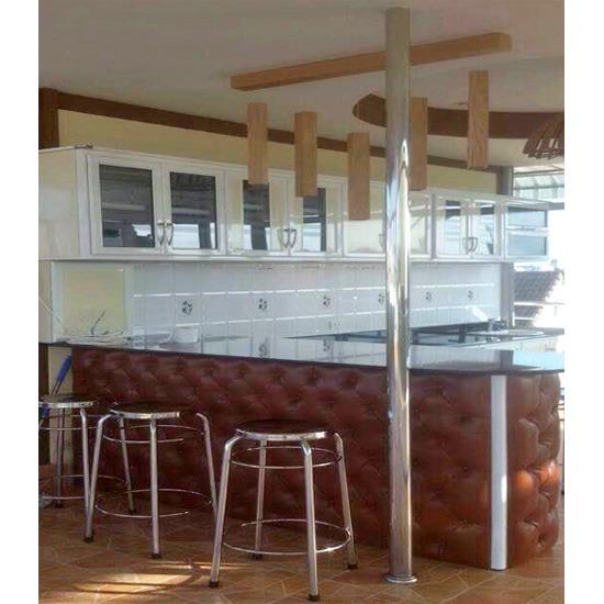 ตู้ชุดครัวอลูมิเนียม อลูมิเนียม ประตูบานสวิง ชุดครัวอลูมิเนียม