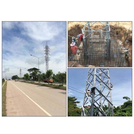 PROJECT : Steel Tower 115 KV. Wangsapung, Loei - บริษัท อะโกรเทค เอ็นเนอร์ยี จำกัด