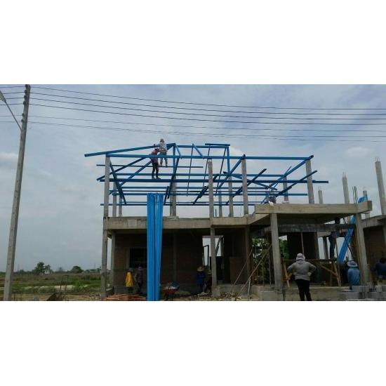 โครงหลังคา - ห้างหุ้นส่วนจำกัด ทีแอนด์บี รับสร้างบ้าน
