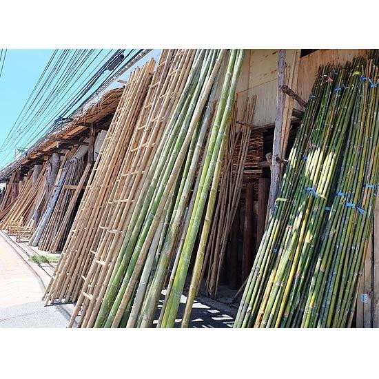 ไม้ไผ่ บันไดไม้ไผ่