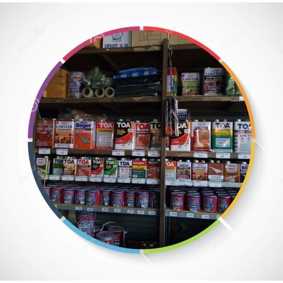 ร้านขายสี เพชรบุรี สีทาบ้าน น้ำยารักษาเนื้อไม้ยูรีเทนtoa  กาแลนด์ สีสเปรย์ atm น้ำยากำจัดปลวกเชนไดร้ท์  เพชรบุรี