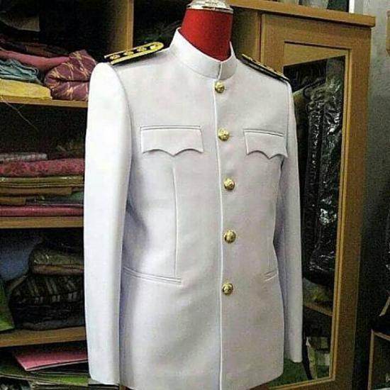 ชุดปกติขาว(ชาย) ชุดขาวใหญ่