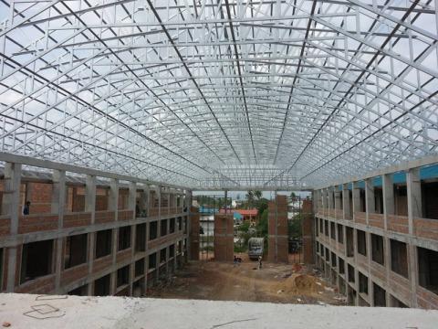 ผลงานโครงหลังคา - ห้างหุ้นส่วนจำกัด พลวิศ การก่อสร้าง