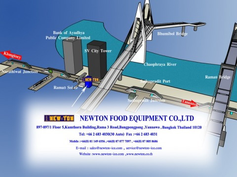 Picture Map - Newton Food Equipment- Ice Machine