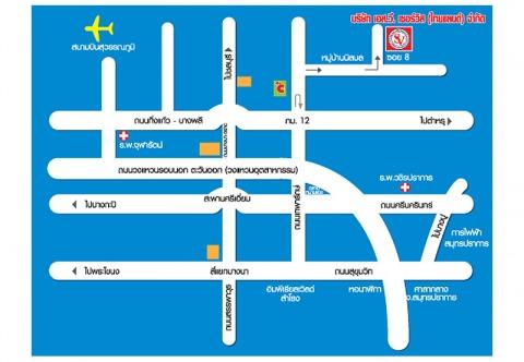 Picture Map - S V Service (Thailand) Co Ltd