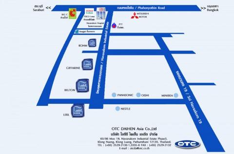 แผนที่รูปภาพ - บริษัท โอทีซี ไดเฮ็นเอเชีย จำกัด