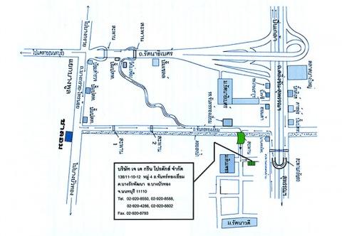 แผนที่รูปภาพ - บริษัท เจเคกรีน โปรดักส์ จำกัด
