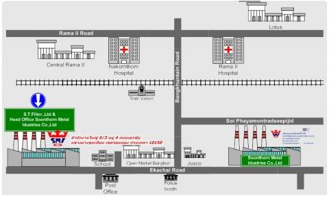 แผนที่รูปภาพ - บริษัท สุนทรเมทัลอินดัสทรี้ส์ จำกัด