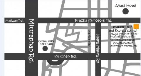แผนที่รูปภาพ - บริษัท มาติโก้ ทัวร์ แอนด์ เอ็กเพรส จำกัด