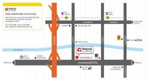 แผนที่รูปภาพ - บริษัท เทเลอินโฟ มีเดีย จำกัด (มหาชน) สำนักงานใหญ่ อาคารวานิช 2