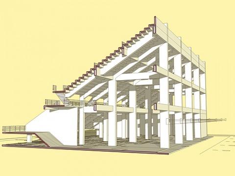 ชิ้นส่วนอาคารสำเร็จรูป - บริษัท เอสเคซีพรีแฟ็บริเคท จำกัด