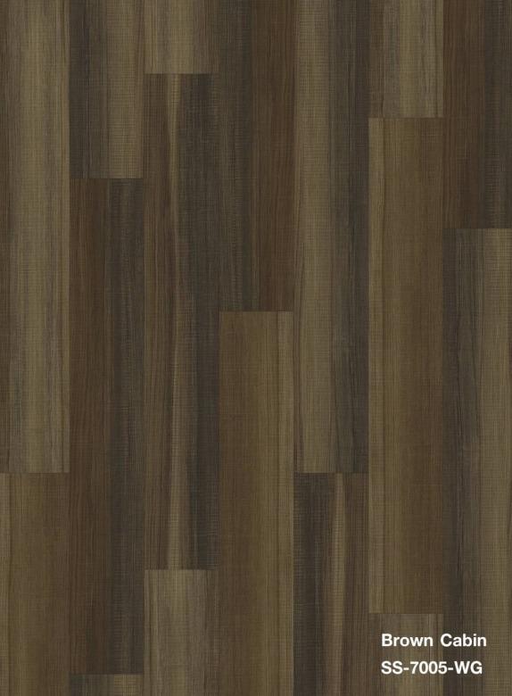 พื้นหินลายไม้ สี Brown Cabin