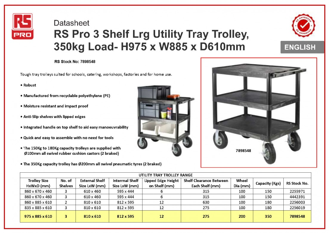 Aluminium, Plastic Heavy Duty Trolley