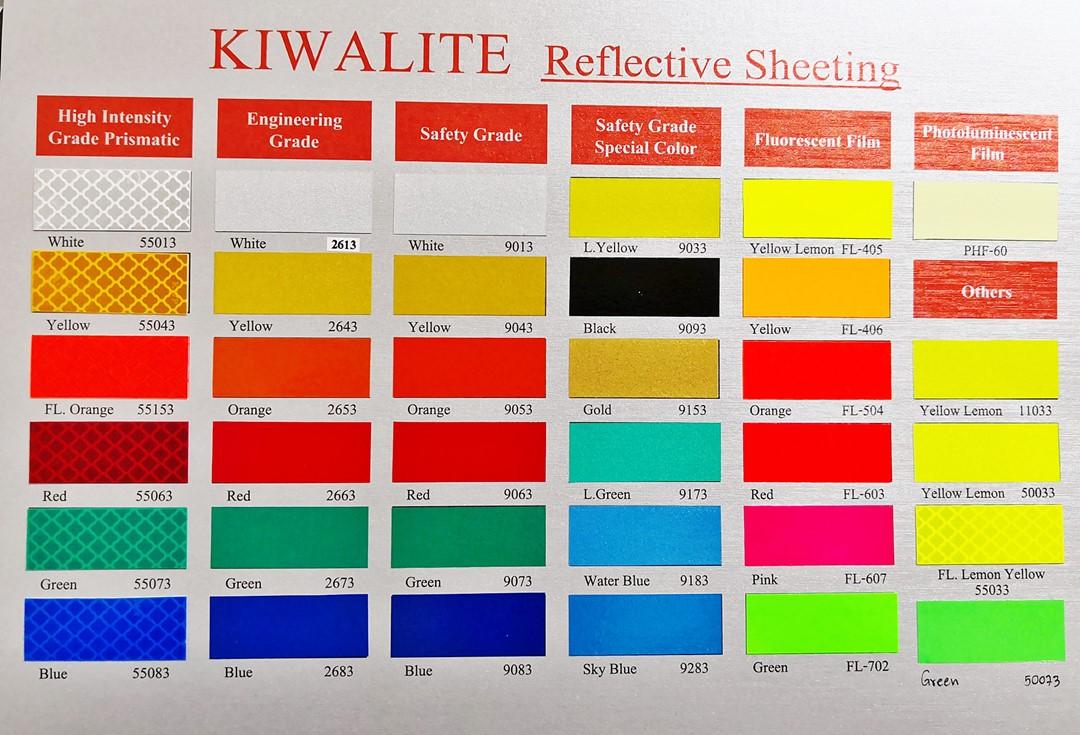 สติกเกอร์สะท้อนแสง Kiwalite