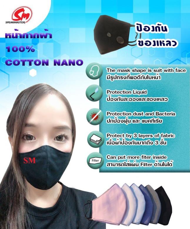 หน้ากากผ้าคอตตอน นาโน ราคาส่ง